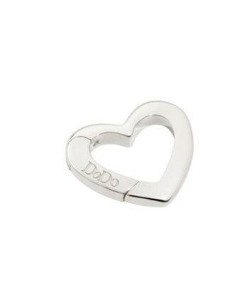 moschettone argento cuore dodo