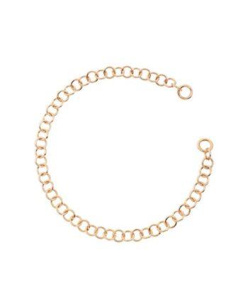 bracciale oro rosa 9kt catena leggera