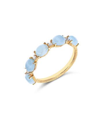 anello acquamarina e diamanti nanis
