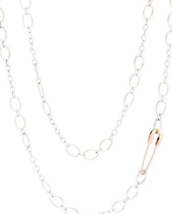 collana argento con spilla oro rosa dodo
