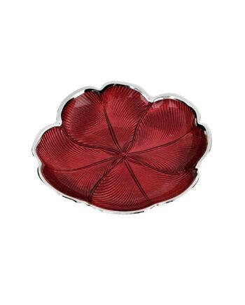 Ciotola piccola quadrifoglio rosso