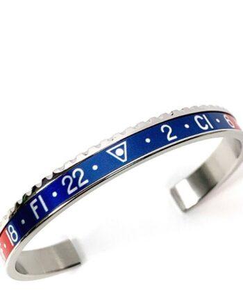 Bracciale acciaio blu/rosso speedometer