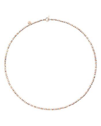 girocollo mini granelli oro rosa e argento dodo