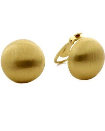 orecchino bolle clip argento placcato oro Aquaforte