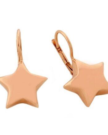 orecchini stelle monachella argento placcato oro Aquaforte