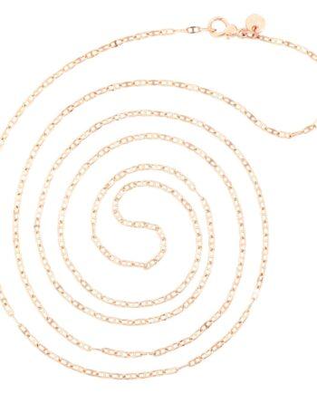 collana maglia marina oro rosa 9kt