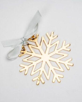 Addobbo fiocco di neve placcato oro giallo RS8421