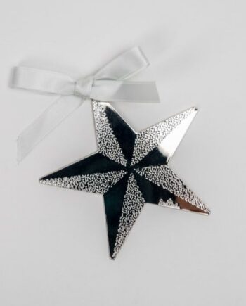 Addobbo stella argento RS8421