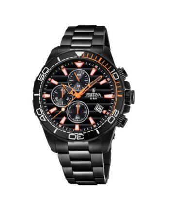 f20365/1 orologio chrono festina uomo acciaio quadrante nero