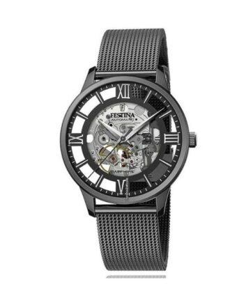 f20365/1 orologio automatico festina skeleton acciaio uomo