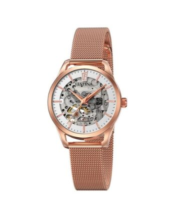 f20539/1 orologio festina automatico skeleton acciaio rosè donna