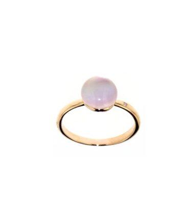 anello oro rosa quarzosa