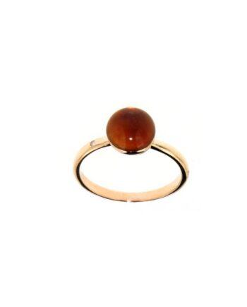anello pietre semipreziose oro rosa mop e citrino
