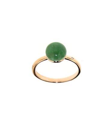 anello Sofia pietre semipreziose prasiolite+giadeite