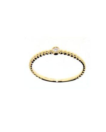 anello oro rosa margherita diamante