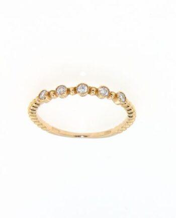 anello margherita oro rosa e diamanti