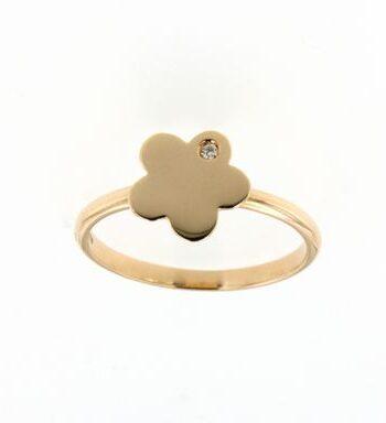 anello mademoiselle oro rosa e diamante