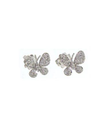 orecchini farfalla oro bianco e diamanti