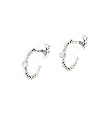 orecchini margherita oro bianco e diamanti