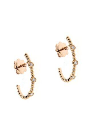 orecchini margherita oro rosa e diamanti