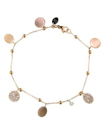 bracciale mademoiselle oro rosa e pavé diamanti