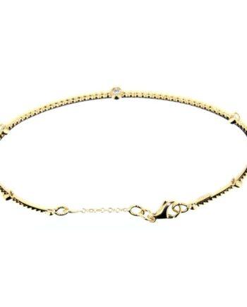 bracciale margherita oro giallo e diamanti
