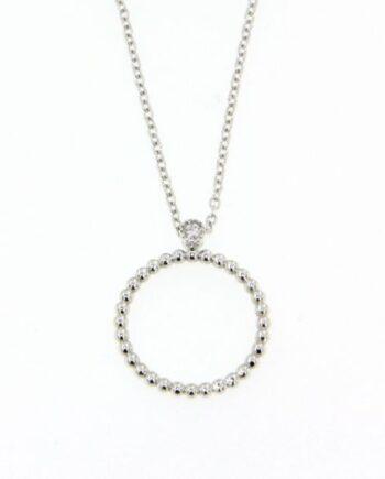 girocollo margherita oro bianco e diamanti