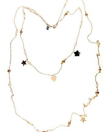 collana mademoiselle diamanti e perle